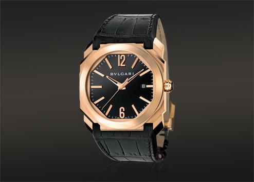 The Bulgari Octo uses geometric designs to give the classic Bulgari wristwatch a modern twist. Photo courtesy: Bulgari.