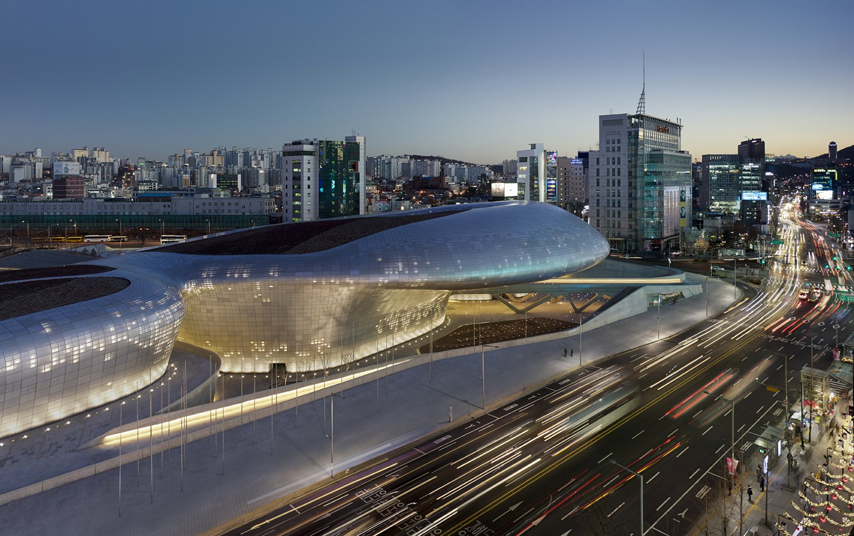 The Dongdaemun Design Plaza designed by Zaha Hadid is becoming the hub of art and fashion in South Korea. Photo Courtesy Zaha Hadid Architecture.