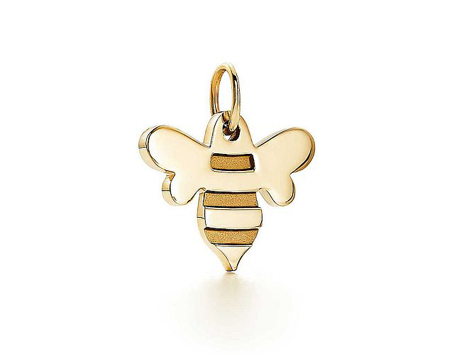 This 18-karat gold honeybee charm from Tiffany retails for $450. Photo courtesy Tiffany & Co.