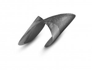 Zaha Hadid Collection, Lamellae Twisted Cuff.